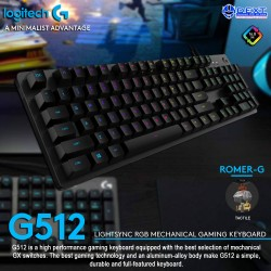 Logitech G512 Tactile RGB...