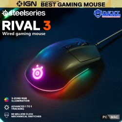 SteelSeries Rival 3 Wired...